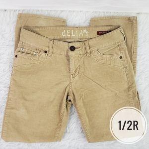 Delia's Tan Corduroy Skinny Pants